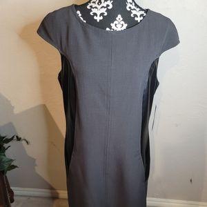 Sharagano Gray Sleeveless Sheath Dress Sz 14